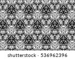 ornament with elements of black ... | Shutterstock . vector #536962396