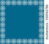 snowflake vector winter frame | Shutterstock .eps vector #536962786