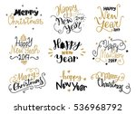 happy new year and merry... | Shutterstock .eps vector #536968792