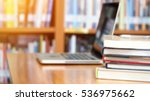 book stack and laptop computer... | Shutterstock . vector #536975662