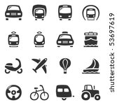 transportation vector icons.... | Shutterstock .eps vector #53697619