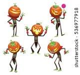 vector set of cartoon images of ... | Shutterstock .eps vector #536977918