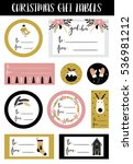 christmas stickers  gift tags... | Shutterstock .eps vector #536981212