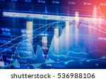 stock market trading graph and... | Shutterstock . vector #536988106