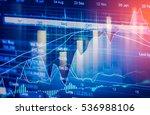 financial stock statistic chart ...   Shutterstock . vector #536988106