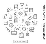 school and education thin line... | Shutterstock .eps vector #536994502