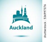 auckland detailed silhouette.... | Shutterstock .eps vector #536997376