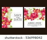 vintage delicate invitation... | Shutterstock .eps vector #536998042