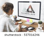 cloud computing connection...   Shutterstock . vector #537016246