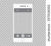 white smartphone isolated on... | Shutterstock .eps vector #537018202