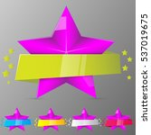 set of violet stars with...
