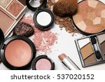 makeup products on white... | Shutterstock . vector #537020152