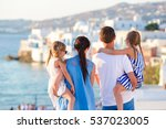 family on vacation in europe... | Shutterstock . vector #537023005