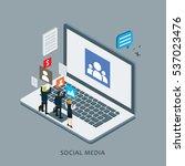 business in internet social... | Shutterstock .eps vector #537023476