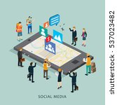 business in internet social... | Shutterstock .eps vector #537023482