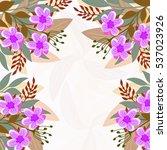 invitation or wedding card... | Shutterstock .eps vector #537023926