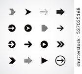 arrow media play icon theme... | Shutterstock . vector #537025168