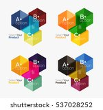 set of abstract option... | Shutterstock .eps vector #537028252