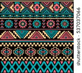 native ethnic pattern theme | Shutterstock . vector #537037066