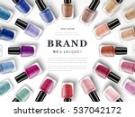 various colors of nail lacquers ... | Shutterstock .eps vector #537042172