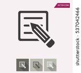 registration vector icon....   Shutterstock .eps vector #537042466