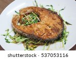 salmon fillets grill overcook | Shutterstock . vector #537053116