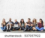diverse people friendship... | Shutterstock . vector #537057922