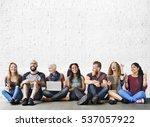 diverse people friendship... | Shutterstock . vector #537057922