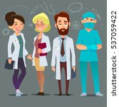 hospital medical staff team... | Shutterstock .eps vector #537059422
