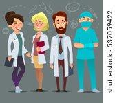 hospital medical staff team... | Shutterstock .eps vector #537059422