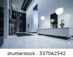 interior of modern office lobby. | Shutterstock . vector #537062542