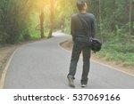blur of man walking and... | Shutterstock . vector #537069166