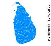 blue map of sri lanka | Shutterstock .eps vector #537072532