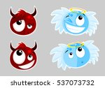 cartoon devil and angel | Shutterstock .eps vector #537073732