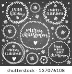 merry christmas lettering in... | Shutterstock .eps vector #537076108