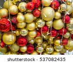 red and silver decorative balls ... | Shutterstock . vector #537082435