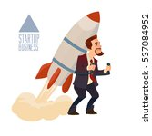 startup business  flat design... | Shutterstock .eps vector #537084952