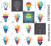 vector light bulb infographic.... | Shutterstock .eps vector #537085042