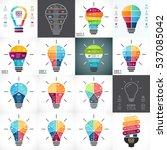 vector light bulb infographic.... | Shutterstock .eps vector #537085042