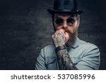 portrait of serious  bearded... | Shutterstock . vector #537085996
