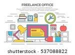 workplace in office. cabinet... | Shutterstock .eps vector #537088822