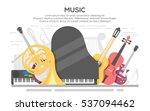 live music vector poster... | Shutterstock .eps vector #537094462