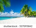 tropical sea under the blue sky | Shutterstock . vector #537095842