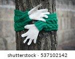 'let's Warm Hug A Tree.'