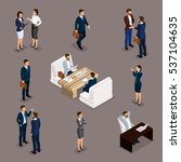 isometric people isometric... | Shutterstock .eps vector #537104635