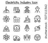 electricity industry icon in... | Shutterstock .eps vector #537111562