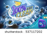 laundry detergent ads  hundred... | Shutterstock .eps vector #537117202