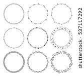 hand drawn round frames ... | Shutterstock .eps vector #537117292