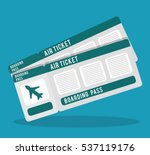 boarding pass icon image vector ...