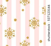 christmas gold snowflake...   Shutterstock . vector #537123166